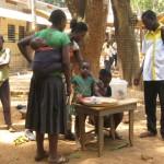 stolek svačinářky před školou